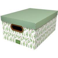 Caixa Organizadora Média Cactos - Dello - Verde