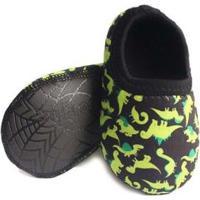 Sapato De Neoprene Fit Ufrog Dino Infantil - Masculino-Verde