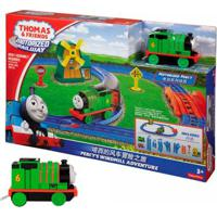 Kit Playset E Mini Veículos - Thomas & Friends - Percy E O Moinho De Vento Com Percy - Fisher-Price