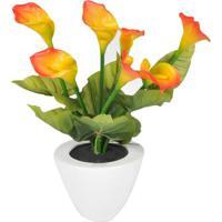 Flor Artificial- Verde & Amarela- 37Xã˜22Cm- Btc Btc Decor