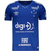 Camisa Umbro Cruzeiro I 2019 Com Patrocínio Masculina - Masculino