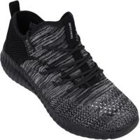 Tênis Skechers Infantil Elite Flex Up To Snuff - Unissex-Preto+Cinza
