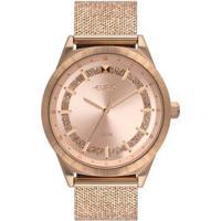 Relógio Euro Shiny Mesh Feminino - Feminino-Rose Gold