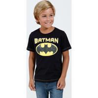 Camiseta Infantil Manga Curta Batman Liga Da Justiça Marisa