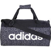 Mala Adidas Duffel Linear - Unissex-Preto+Branco