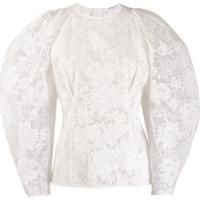 Givenchy Blusa De Renda Com Mangas Bufantes - Branco