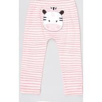 Calça Infantil Vaquinha Listrado Rosa Claro
