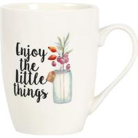"Caneca ""Enjoy The Little Things""- Branca & Preta- 33Rojemac"