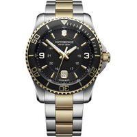 Relógio Victorinox Swiss Army Masculino Aço Prateado E Dourado - 24912