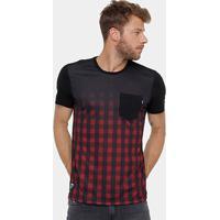 Camiseta Okdok Classic Xadrez C/ Bolso Masculina - Masculino