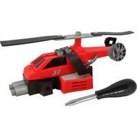 Conjunto De Montagem - Meu Pequeno Engenheiro - Garagem S/A - Helicóptero De Resgate - Candide