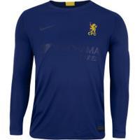Camisa Manga Longa Chelsea Iv 19/20 Nike - Masculina - Azul/Amarelo