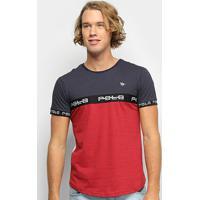 Camiseta Polo Rg 518 Estampa Masculina - Masculino-Marinho