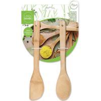 Colher E Espátula De Bambu 29,5 Cm
