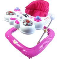 Andador Bebê Infantil Musical Recreativo Baby Style Abelha Rosa