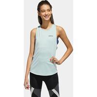 Regata Adidas Colorblock Aeroready Tk Feminina - Feminino-Verde+Preto