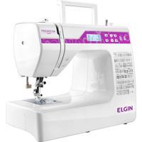 Máquina De Costura Eletrônica Elgin Premium Jx10000 Roxo/Branco