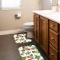 Jogo Tapetes Para Banheiro 2 Peças Cactos Único
