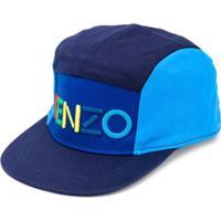 Kenzo Kids Cap Color Block - Azul