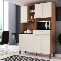 Cozinha Compacta Verdot 7 Pt 1 Gv Marrom E Champagne