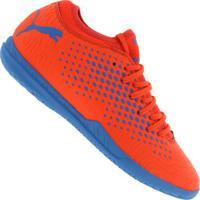 ... Chuteira Futsal Puma Future 19.4 Ic - Adulto - Vermelho Azul 7791fec865e1f