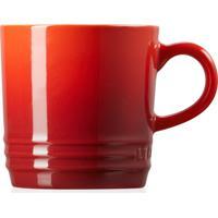 Caneca Capuccino 200Ml Cerâmica - Le Creuset - Vermelho