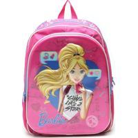 Mochila Sestini Infantil Barbie Rosa