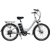 Bicicleta Elétrica Biobike, Quadro Em Alumínio, Modelo Style - Prata
