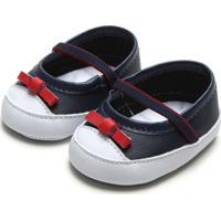 Sapato Pimpolho Menina Laço Azul-Marinho