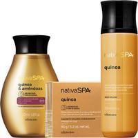 Combo Nativa Spa Quinoa E Amêndoas: Sabonete Em Barra + Óleo Hidratante + Body Splash