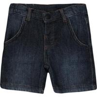 Bermuda Infantil Moletinho Jeans Quimby Masculina - Masculino-Marinho