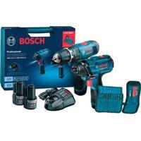 Kit Parafusadeira A Bateria Gdr120-2 Li E Furadeira De Impacto Gsb1200-2 Li Azul Bosch