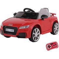 Carrinho Infantil Elétrico Audi Tt Rs 12V Com Controle Remoto Belfix Vermelho