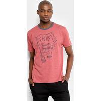 Camiseta Hd Estampa Journey Masculina - Masculino-Vermelho