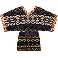 Macaquinho Kimono Estampado Masai - Lez A Lez