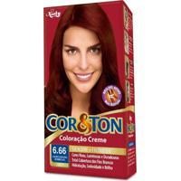 Coloração Creme Cor E Ton 6.66 Louro Escuro Vermelho Niely
