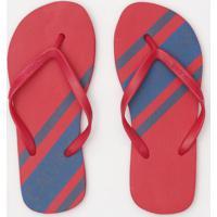 Chinelo Listrado & Texturizado- Vermelho & Azulcalvin Klein