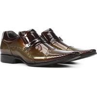 Sapato Social Couro Rafarillo Las Vegas Masculino - Masculino-Marrom Escuro
