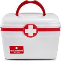 Caixa De Remédios Lifestyle De Plástico Pequeno - Unissex-Vermelho