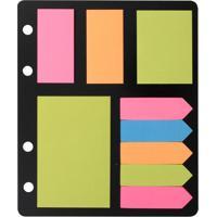 Kit Bloco Adesivo Eagle Anotações Com 9 Blocos E Marcadores De Páginas 25 Folhas Cada