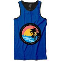 Camiseta Long Beach Regata Circulo Coqueiros Sublimada Masculina - Masculino