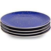 L'Objet Conjunto De Pratos De Sobremesa Lapis - Azul