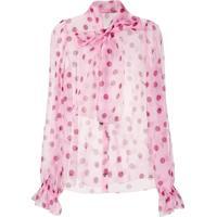 Dolce & Gabbana Blusa De Poás Com Laço Na Gola - Rosa