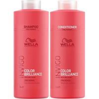 Kit Invigo Color Brilliance Tamanho Profissional Wella Shampoo + Condicionador - Unissex-Incolor