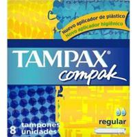 Absorvente Interno Tampax Compak Regular Com 8 Unidades