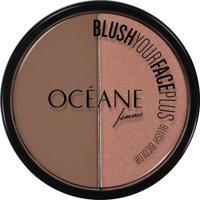 Blush Bicolor Océane Femme Blush Your Face Plus Brown Orange 9,3G - Feminino-Incolor