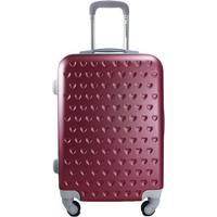 Mala De Viagem Love- Bordã´ & Cinza- 55X35X23Cm- Jacki Design