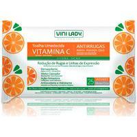 Toalha Umedecida Vitamina C Antirrugas 25 Unidades - Vini Lady