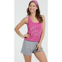 Pijama Short Feminino Acompanha Máscara Marisa