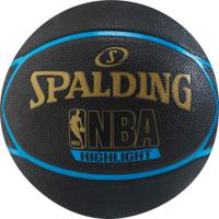 Bola De Basquete Spalding Highlight Series 7 - Preto/Azul